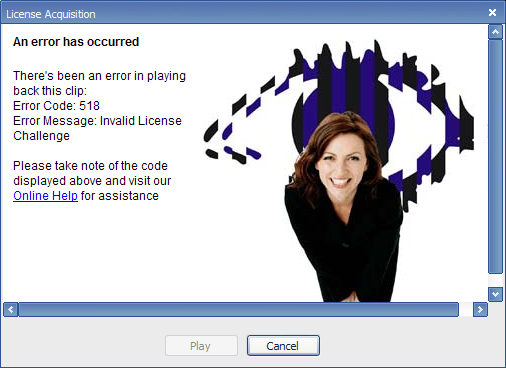 In Windows Media Player 8, it failed badly as well. And made me look at Davina McCall's face.